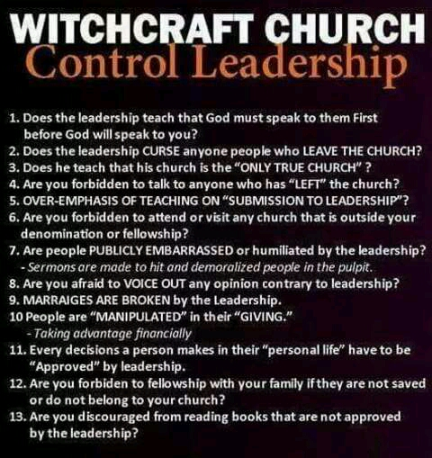HOW TO RECOGNIZE A CULT CHURCH